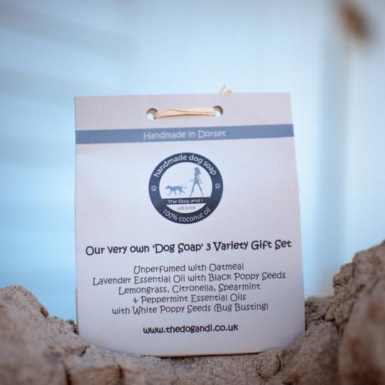 100% Coconut Oil Dog Soap - Triple Soap Gift Set