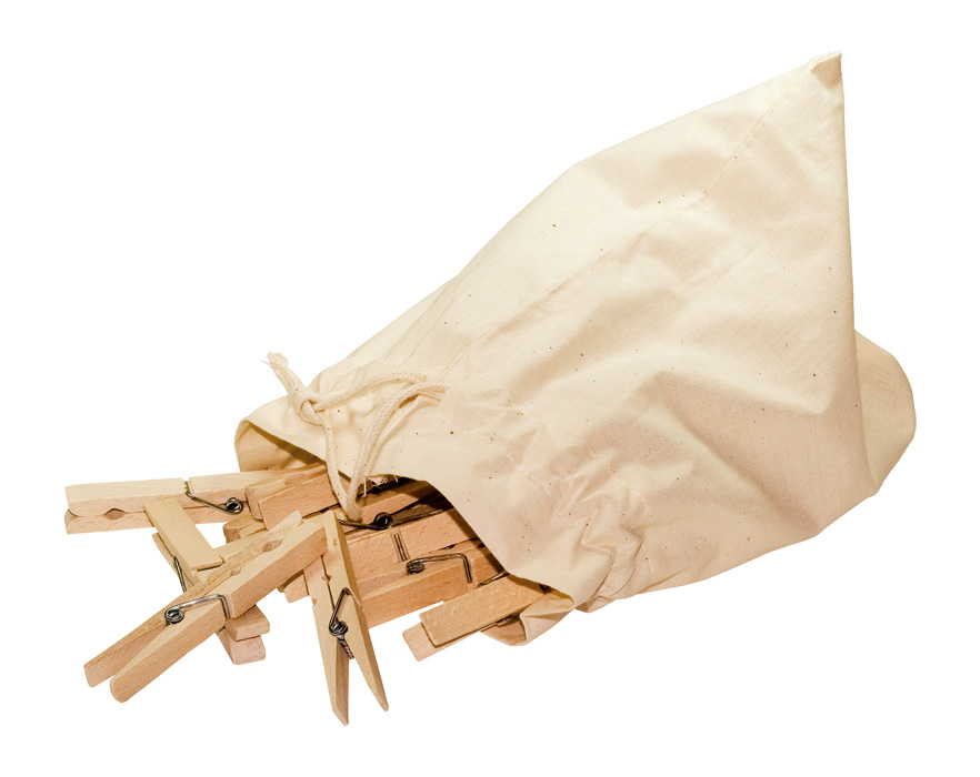 Holzwäscheklammern