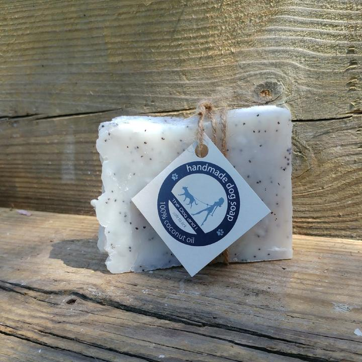 100% Coconut Oil Soap with Lavender Essential Oil and Poppy Seeds
