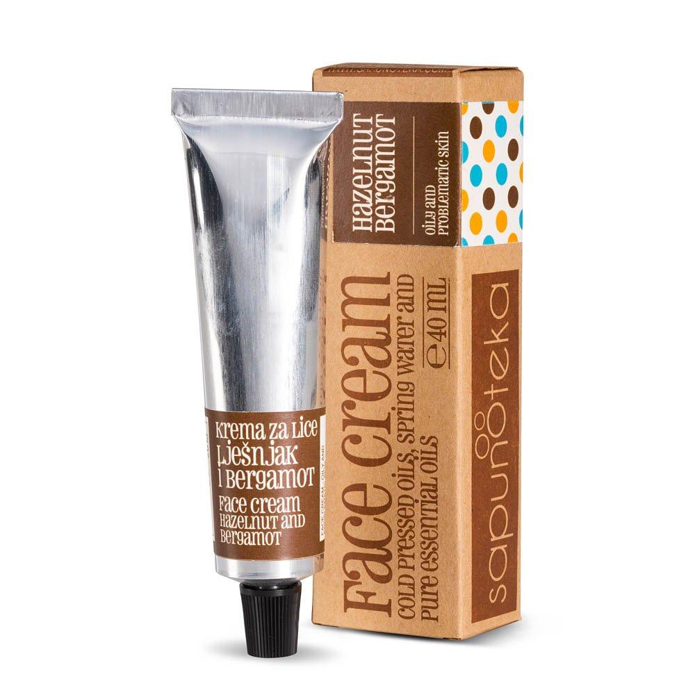 Bergamotte & Haselnuss-Gesichtscreme