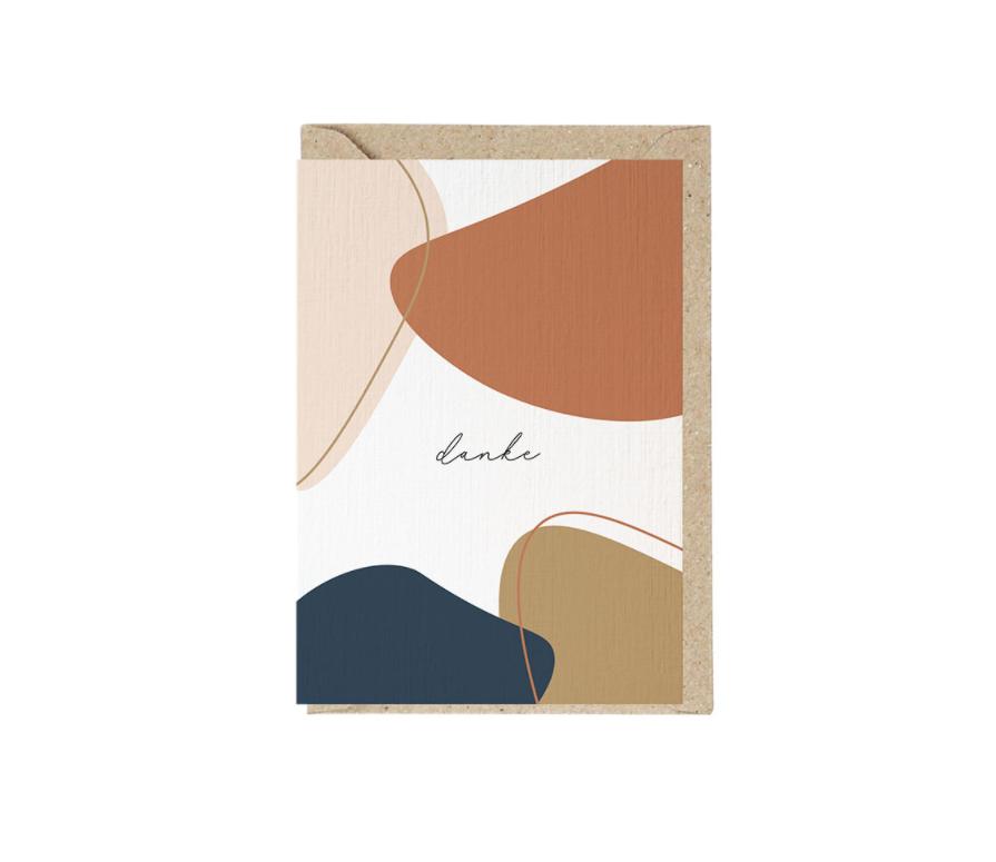 DANKE Grusskarte mit Umschlag und Wachssiegel