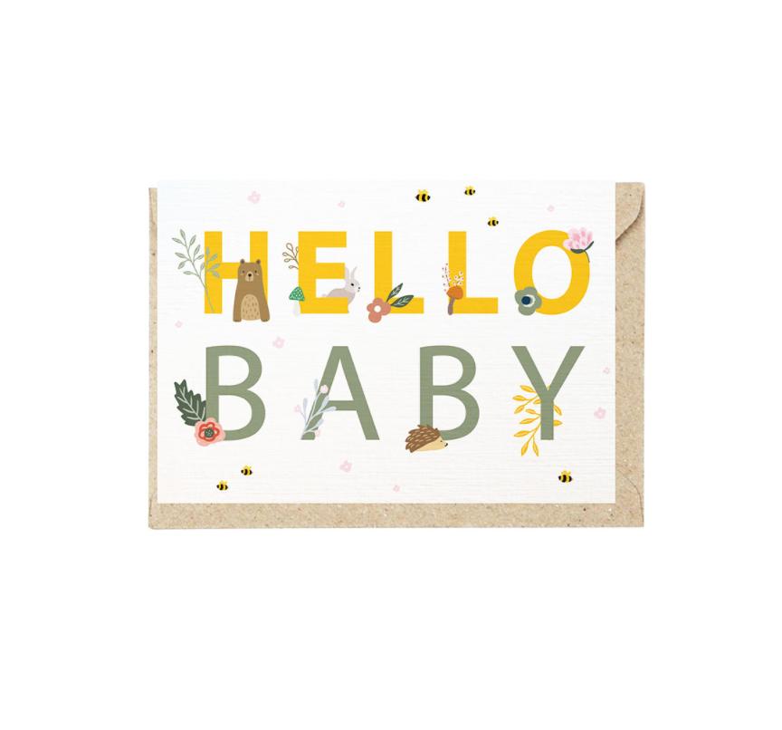 Hello Baby Grusskarte