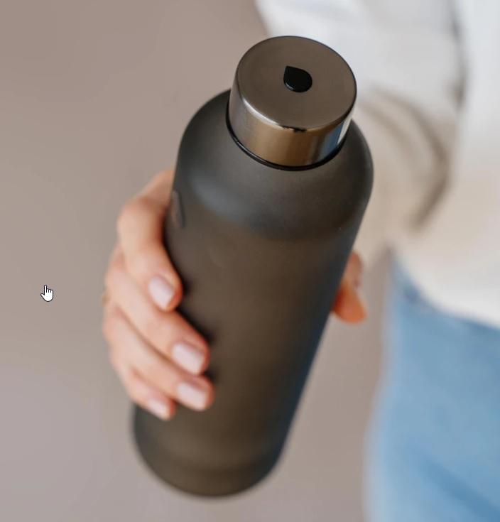 Glasflasche Ash