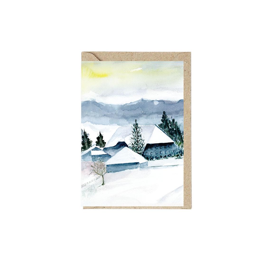 Weihnachtskarte Weihnachtsdorf