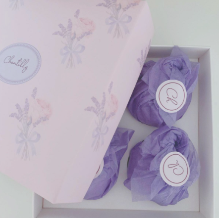 SOFT ORANGE und SOFT ROSE 4 Badebomben set + Geschenkbox